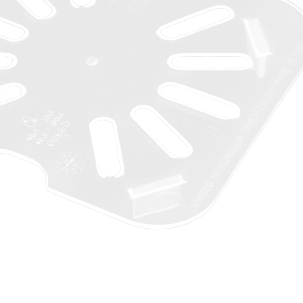Cambro 60PPD190 Food Pan Drain Shelf - 1/6 Size, Translucent