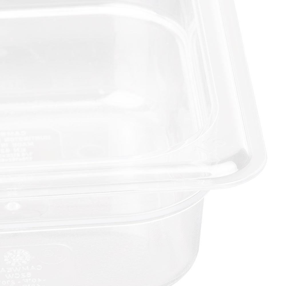 "Cambro 62CW135 Camwear Food Pan - 1/6 Size, 2-1/2""D, Clear"