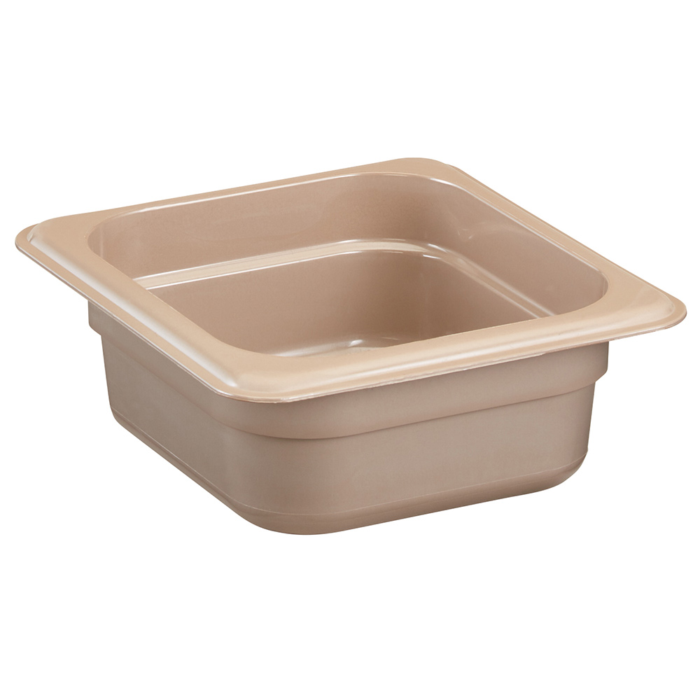 "Cambro 62HP772 High Heat 1/6 Size Food Pan - 2.5""D, Sandstone"