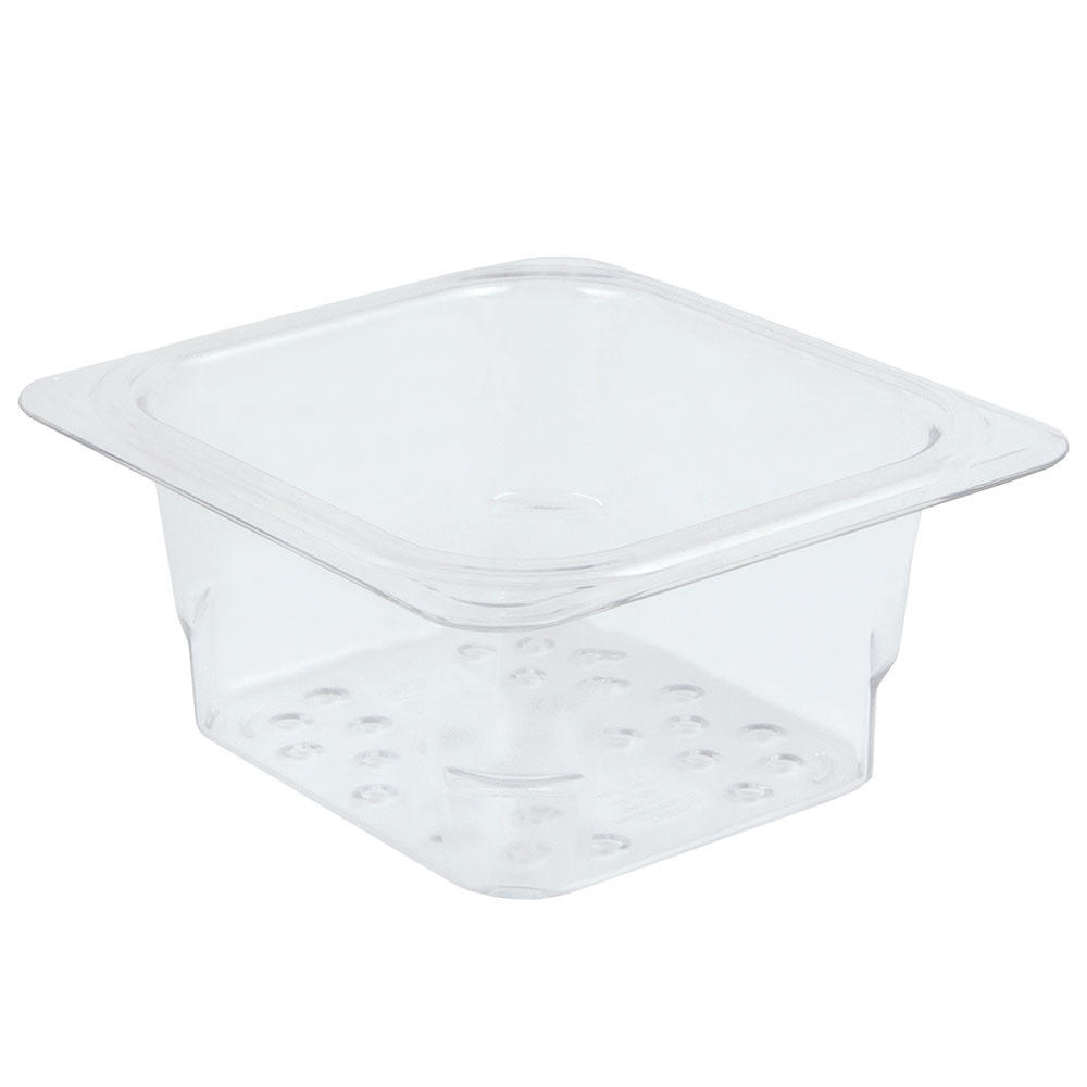 "Cambro 63CLRCW135 Camwear Colander - 1/6 Size, 3""D, Clear"