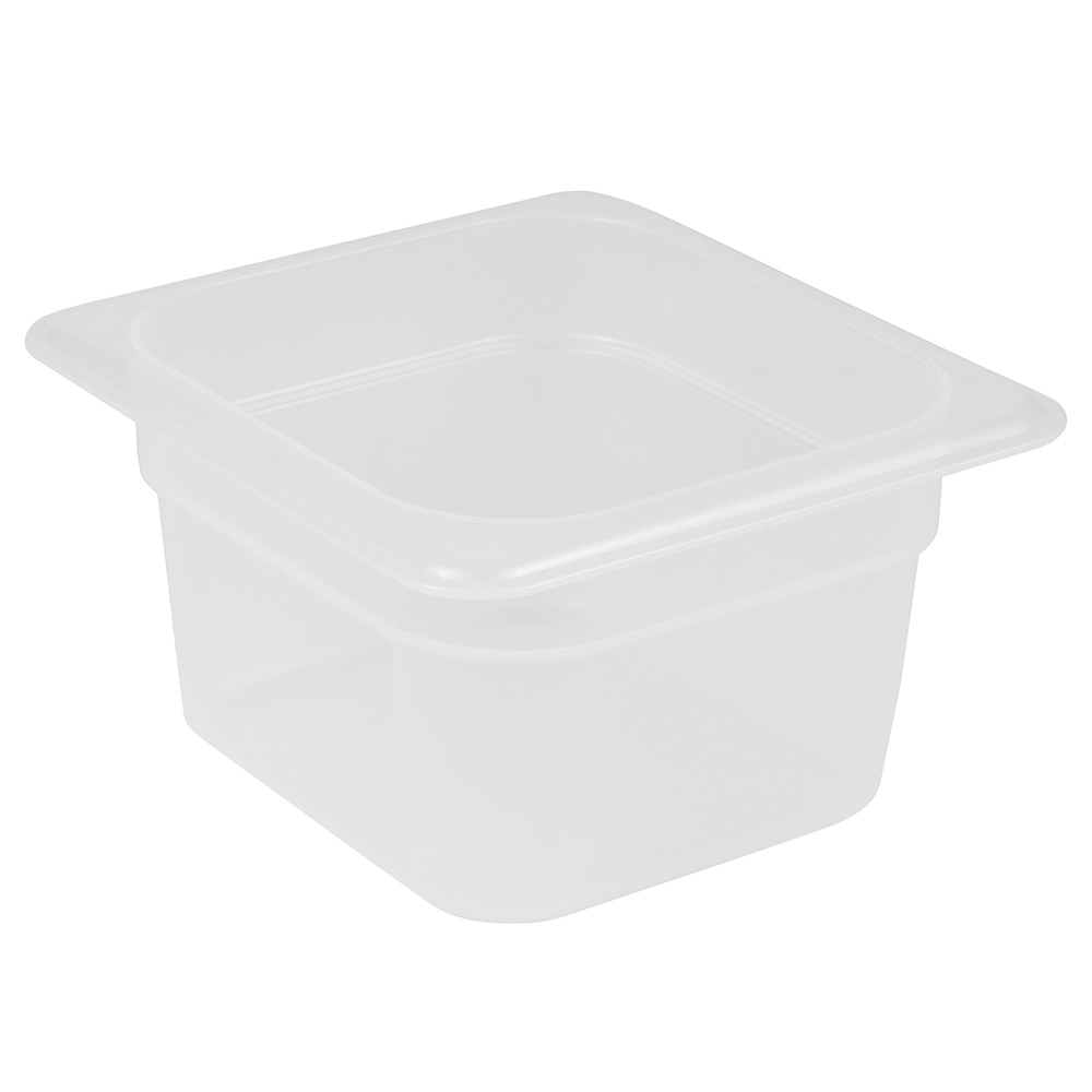 "Cambro 64PP190 Food Pan - 1/6 Size, 4""D, Translucent"