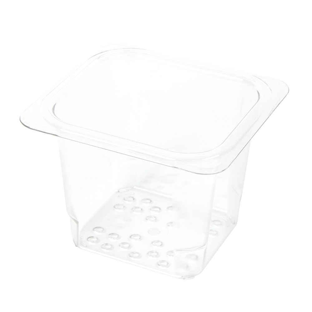 "Cambro 65CLRCW135 Camwear Colander - 1/6 Size, 5""D, Clear"
