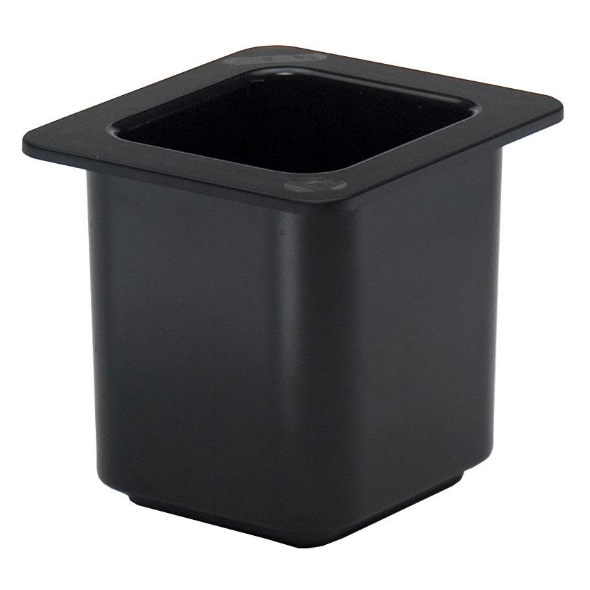 "Cambro 66CF110 ColdFest Food Pan - 1/6 Size, 6""D, Black"