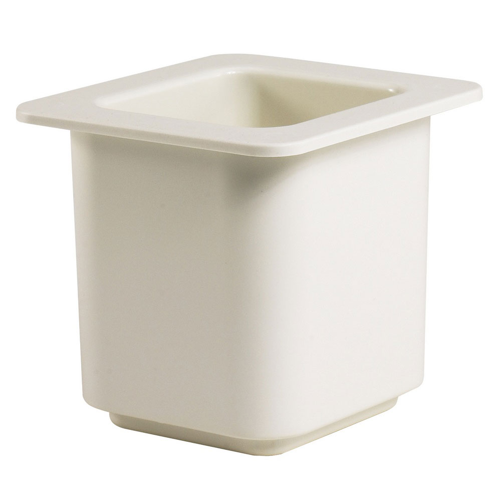 "Cambro 66CF148 ColdFest Food Pan - 1/6 Size, 6""D, White"