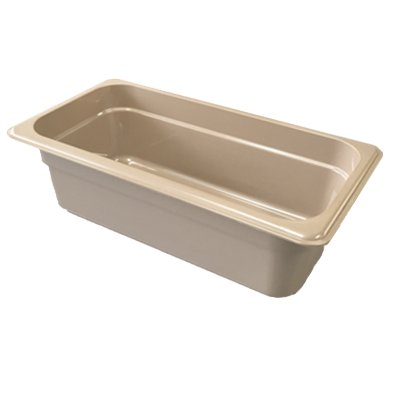 "Cambro 66HP772 X-Pan 1/6 Size Food Pan - 6""D, Non-Stick, Sandstone"