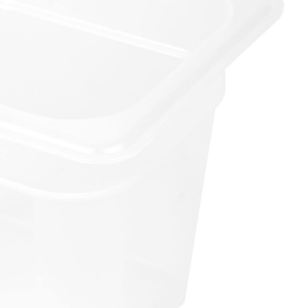 "Cambro 66PP190 Food Pan - 1/6 Size, 6""D, Translucent"