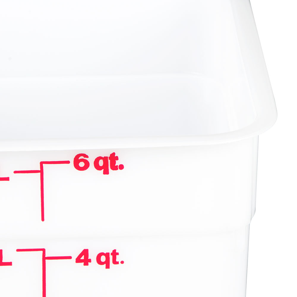Cambro 6SFSP148 6-qt CamSquare Food Container - Natural White