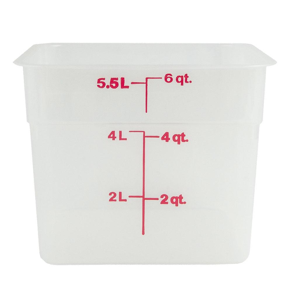 Cambro 6SFSPP190 6-qt CamSquare Food Container - Translucent