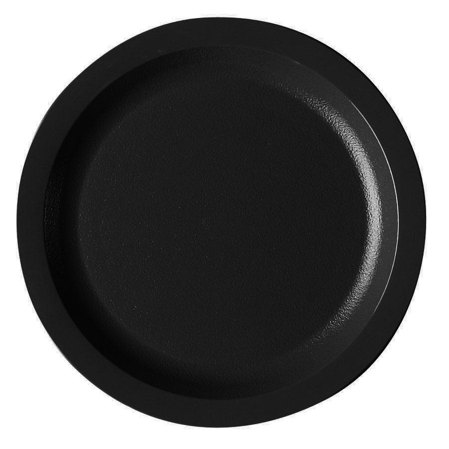"Cambro 725CWNR110 7-1/4"" Camwear Plate - Black"