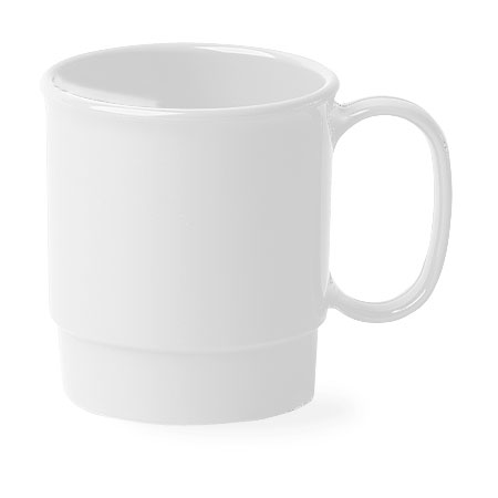 Cambro 75CW148 7-1/2-oz Camwear Cup - Stacking, White