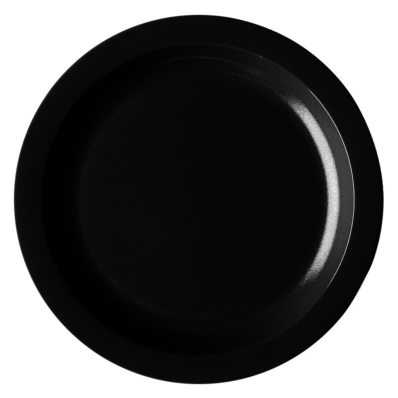 "Cambro 825CWNR-110 8-1/4"" Camwear Plate - Black"