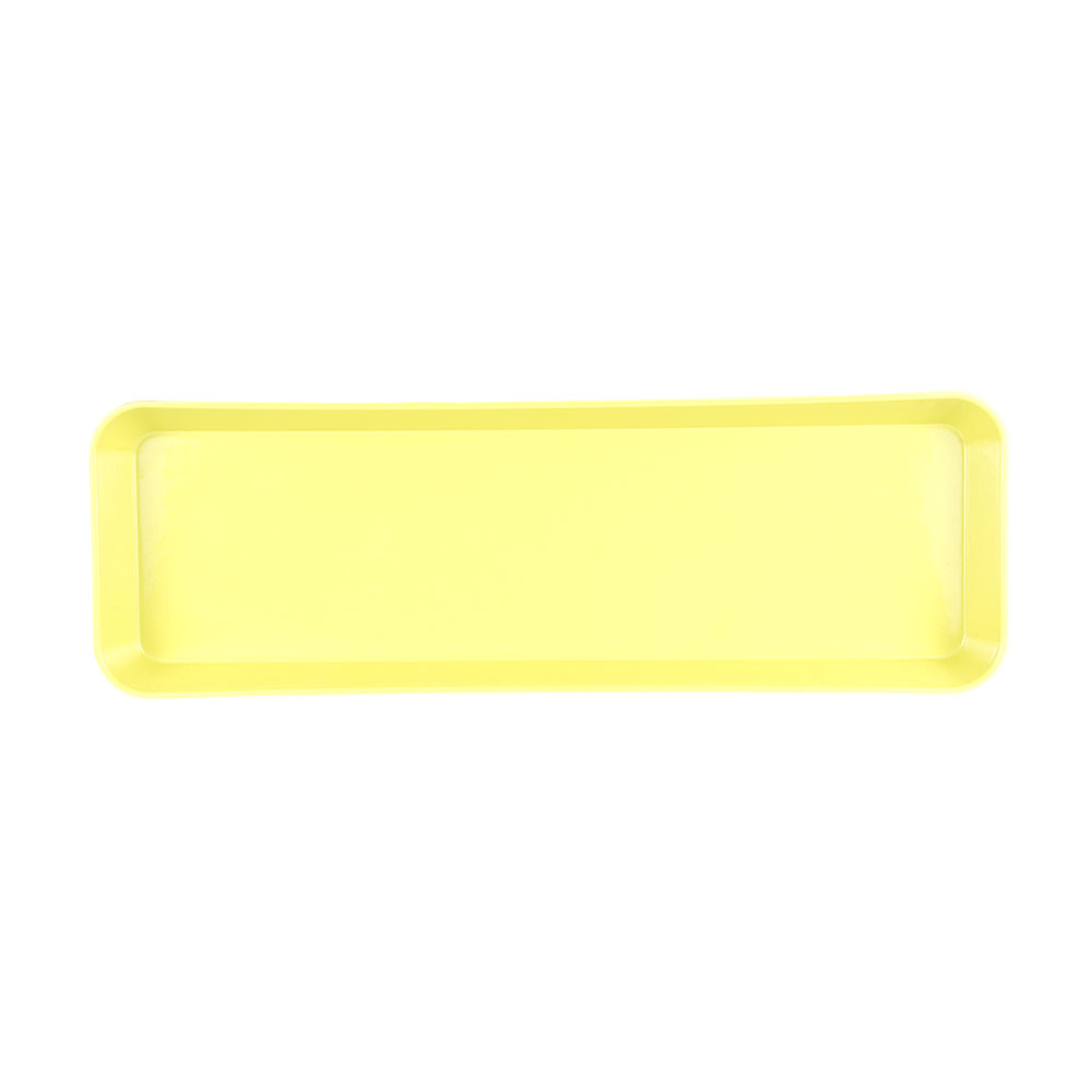 "Cambro 8262MT145 Rectangular Market Display Pan - 8-3/8x25-1/2x2"" Yellow"