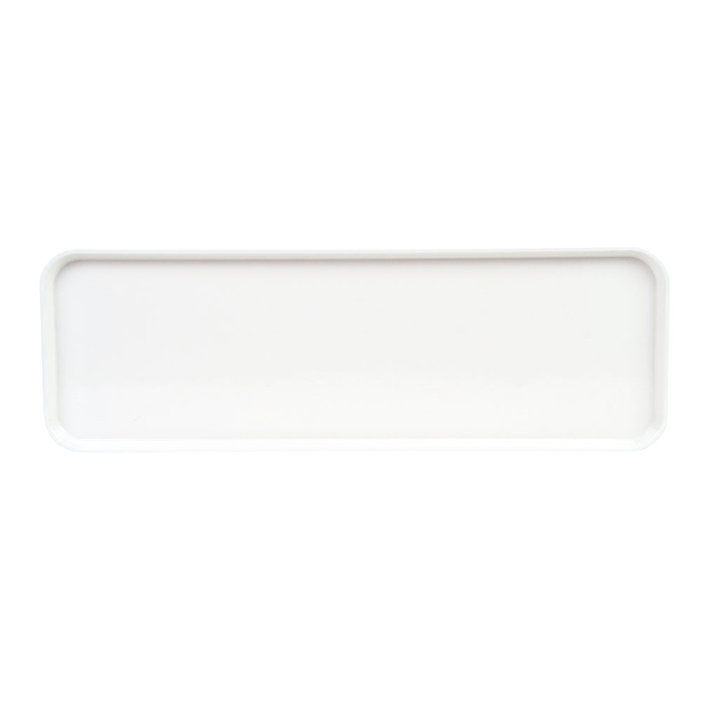 "Cambro 826MT148 Rectangular Market Display Tray - 8-1/4x25-1/2x3/4"" White"
