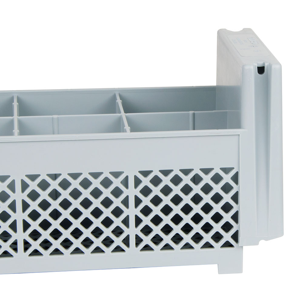 Cambro 8FBNH434151 Flatware Washing Basket - Half Size, 8-Compartment, Soft Gray