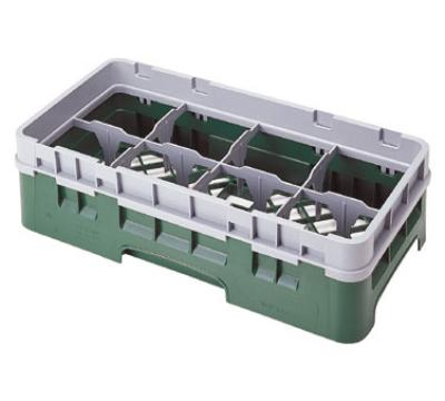 Cambro 8HS958416 Camrack Half Size 8 Compartments 10-1/8 High 4-1/8 in D Cranberry NSF Restaurant Supply
