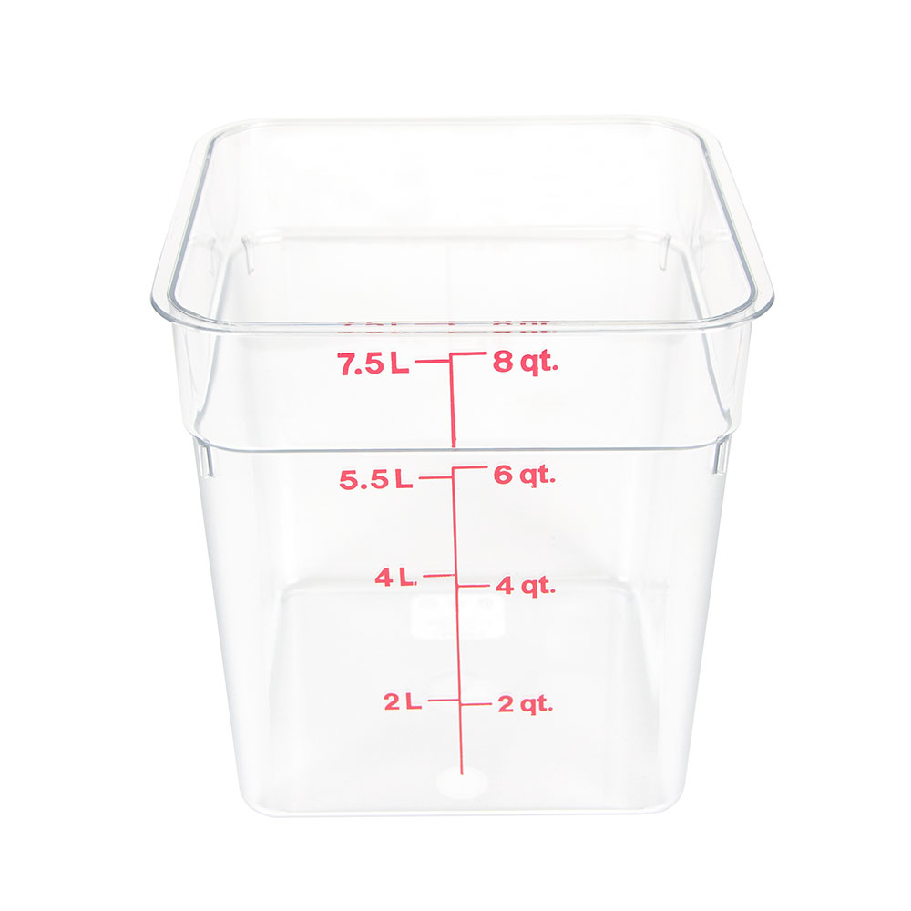 Cambro 8SFSCW135 8-qt CamSquare Food Container - Clear