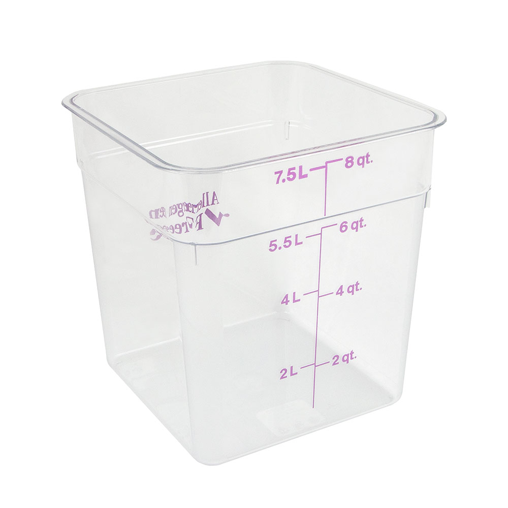 Cambro 8SFSCW441 8-qt Food Container - Allergen-Free, Polycarbonate, Clear