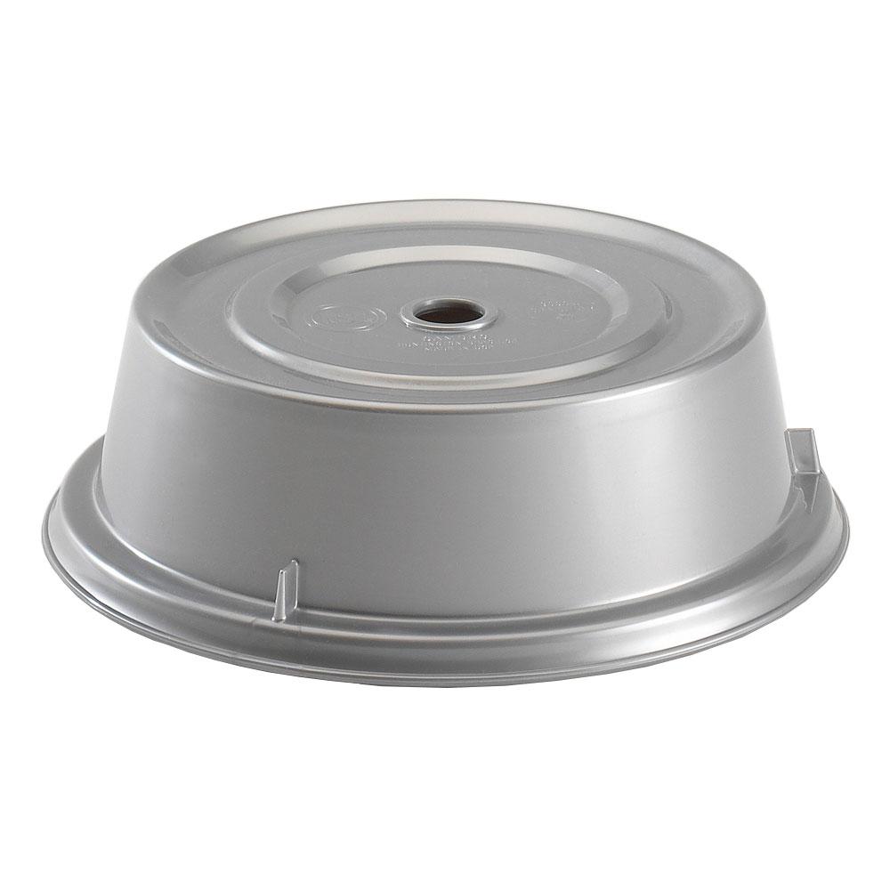 """Cambro 9013CW486 10"""" Round Camwear Plate Cover - 2-3/4""""H, Silver"""