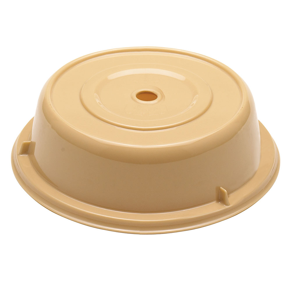 "Cambro 901CW133 9-5/16"" Round Camwear Plate Cover - Beige"