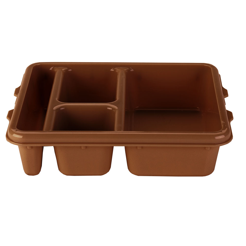 "Cambro 9114CP167 Rectangular Camwear Meal Delivery Tray - 5-Compartments, 9x11x2-1/2"" Brown"