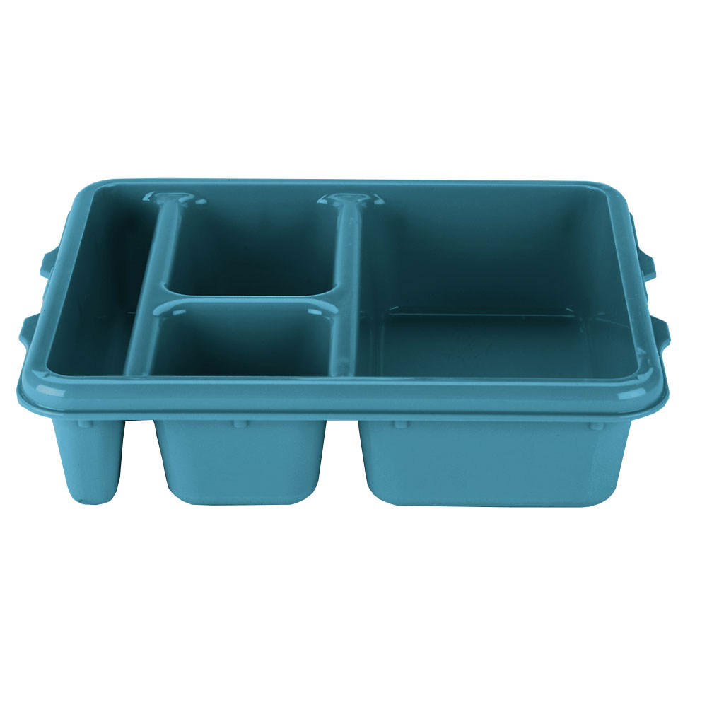 "Cambro 9114CP414 Rectangular Camwear Meal Delivery Tray - 5-Compartments, 9x11x2-1/2"" Teal"