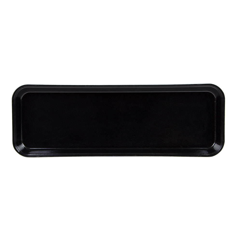 "Cambro 92615MT110 Rectangular Market Display Tray - 9x25-1/2x1-1/2"" Black"