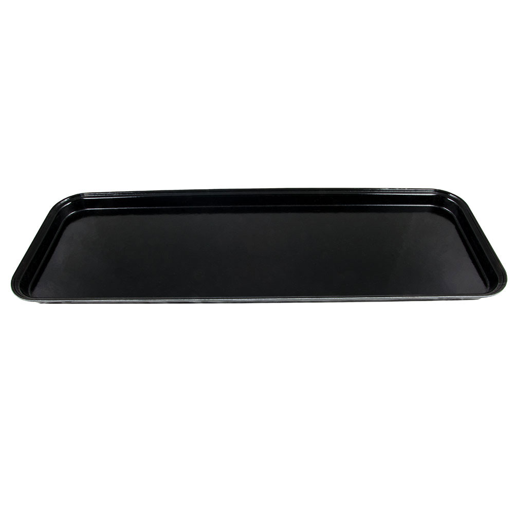 "Cambro 926MT110 Rectangular Market Display Tray - 9x25-9/16x1"" Black"
