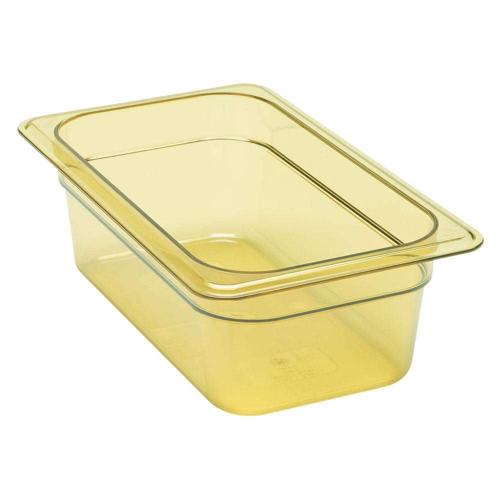 """Cambro 92HP150 H-Pan Food Pan - 1/9 Size, 2-1/2""""D Amber"""