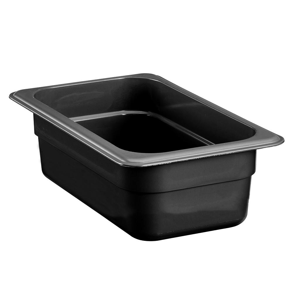 "Cambro 92HP771 High Heat 1/9 Size Food Pan - 2.5""D, Onyx"
