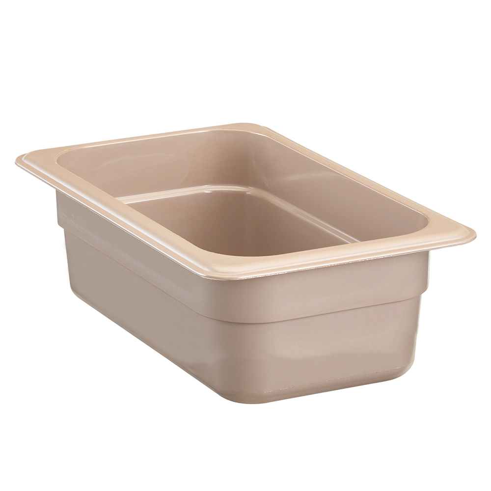 "Cambro 92HP772 High Heat 1/9 Size Food Pan - 2.5""D, Sandstone"