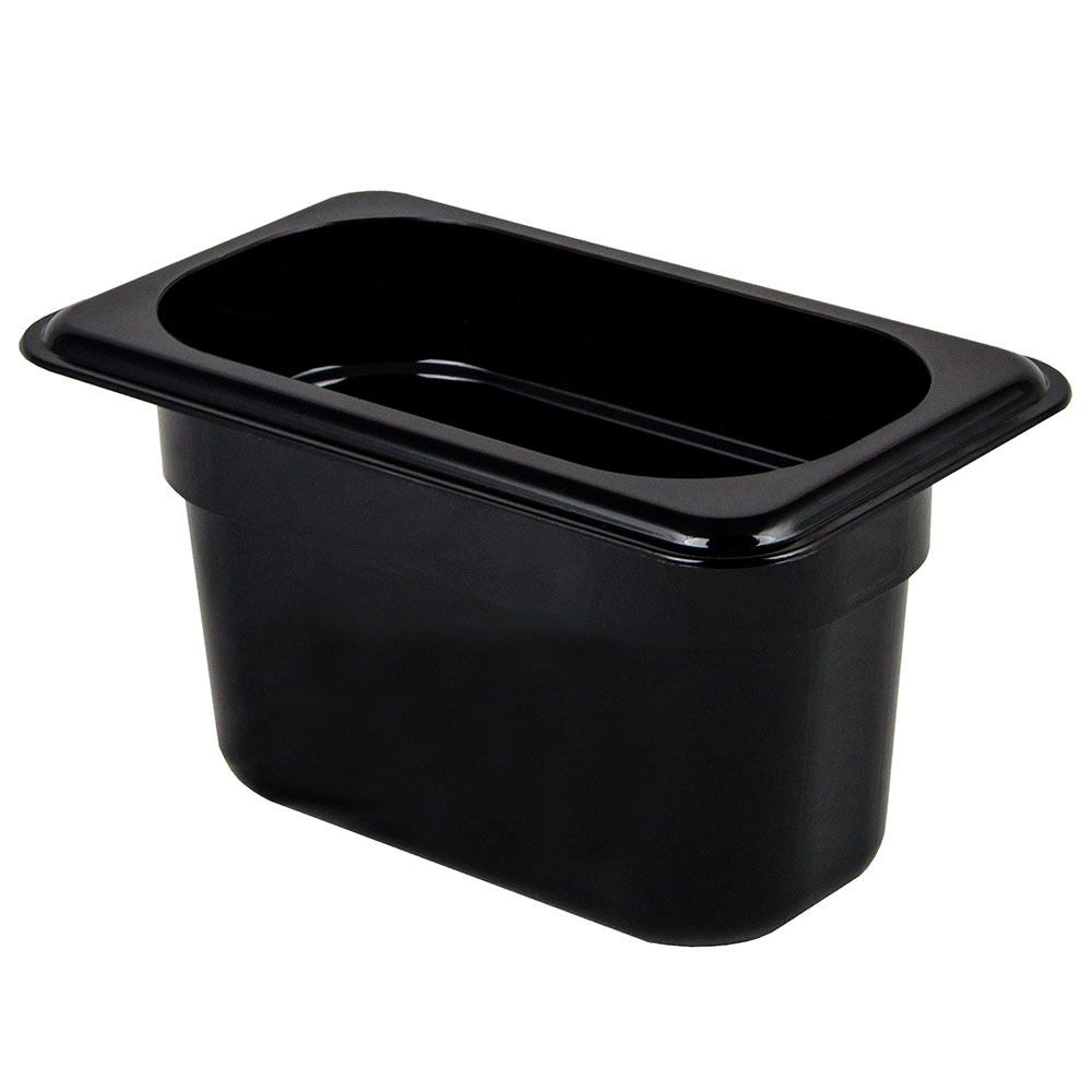 "Cambro 94CW110 Camwear Food Pan - 1/9 Size, 4""D Black"
