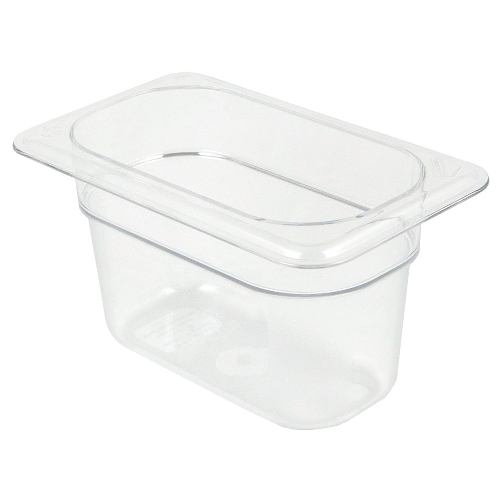 "Cambro 94CW135 Camwear Food Pan - 1/9 Size, 4""D Clear"