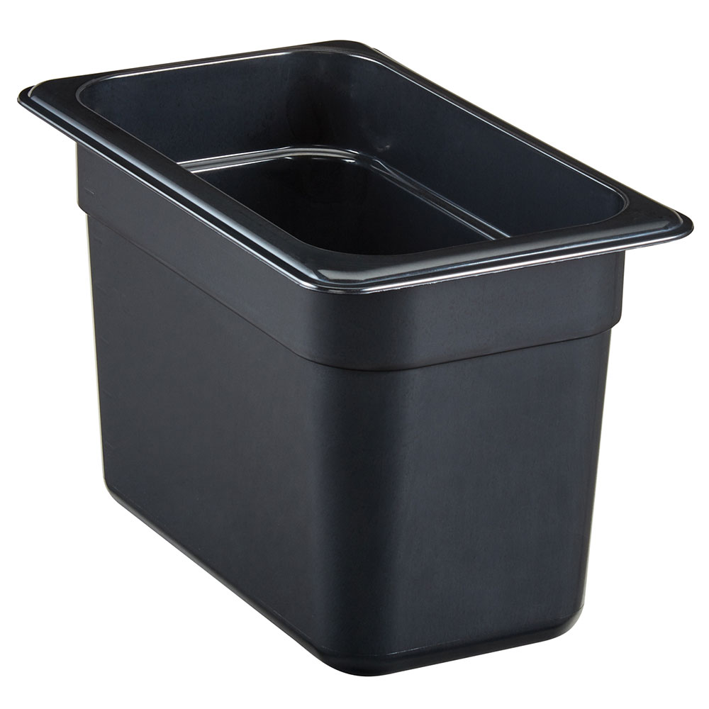 "Cambro 94HP771 Food Pan - 1/9 Size, 4""D Onyx"