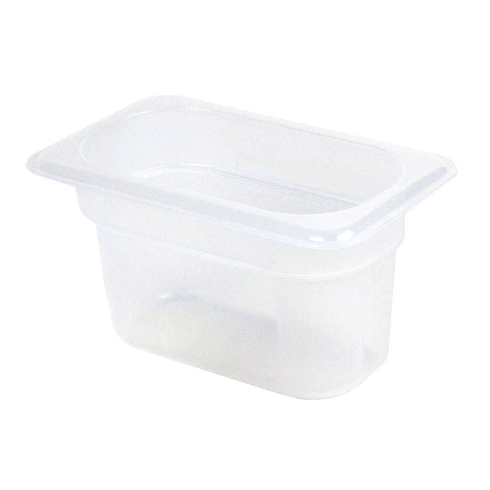 "Cambro 94PP190 Food Pan - 1/9 Size, 4""D Translucent"