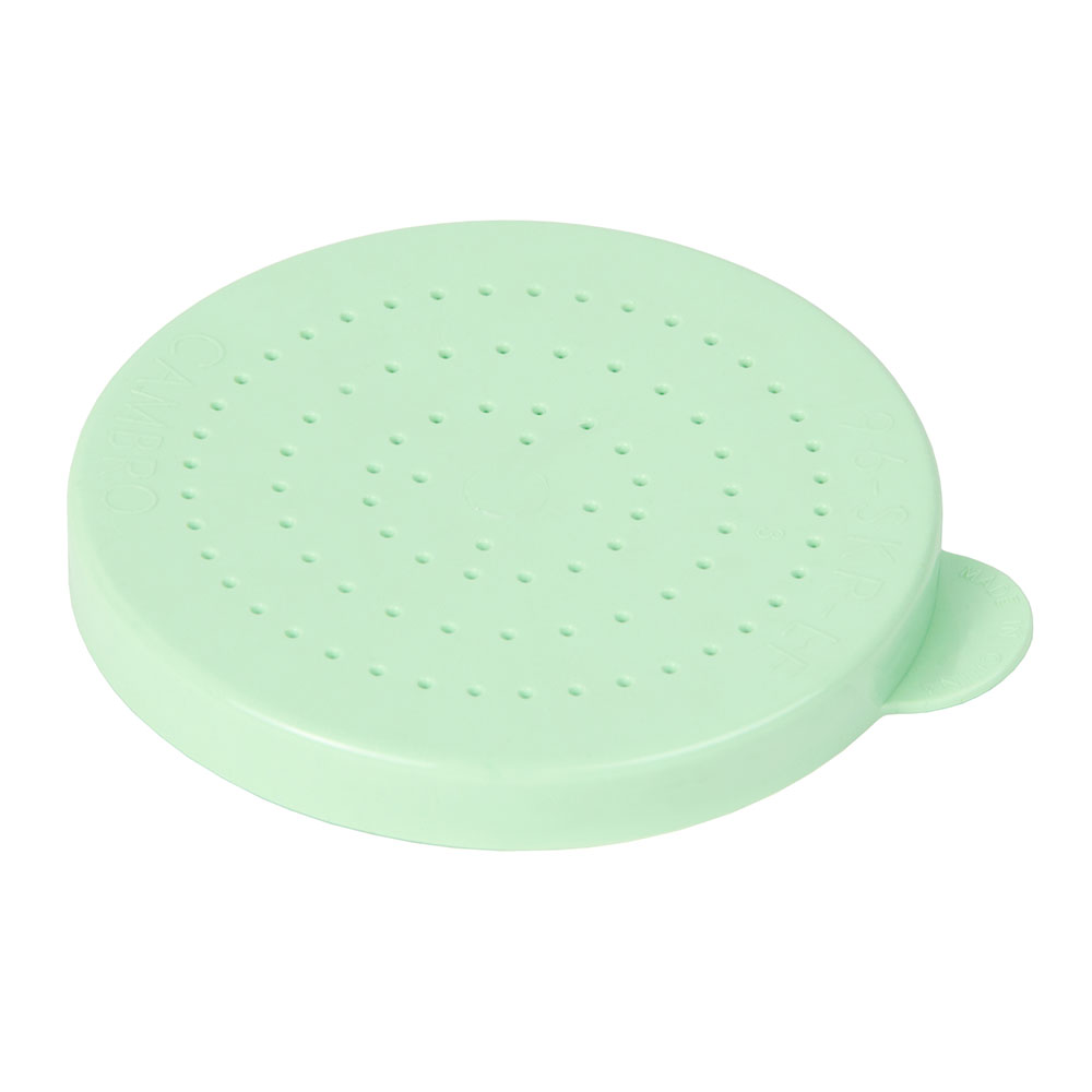 Cambro 96SKRLF407 Replacement Lid - Fine Ground Shaker/Dredge, Green