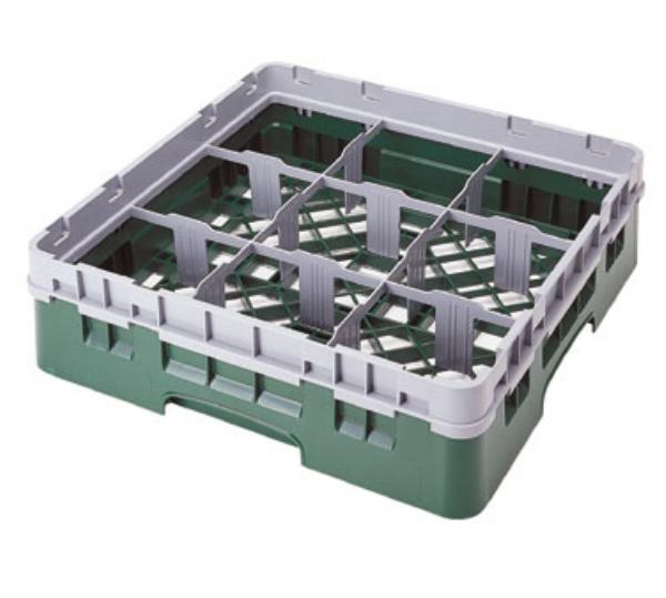 Cambro 9S434119 Camrack 9 Compartments 5-1/4 High 5-7/8 in D Sherwood Green NSF Restaurant Supply
