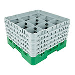 Cambro 9S958119 Camrack Glass Rack - (5)Extenders, 9-Compartments, Sherwood Green