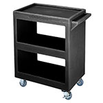 Cambro BC225110 3-Level Polymer Utility Cart w/ 350-lb Capacity, Raised Ledges
