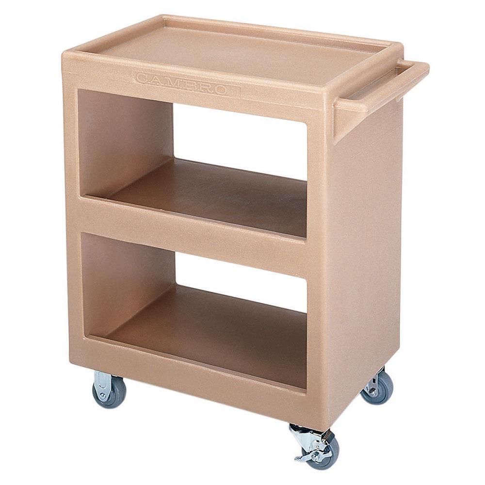 Cambro BC225157 Service Cart - (3)Shelves, 350-lb Capacity, Coffee Beige