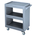 Cambro BC225191 3-Level Polymer Utility Cart w/ 350-lb Capacity, Raised Ledges
