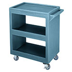 Cambro BC225401 Service Cart - (3)Shelves, 350-lb Capacity, Slate Blue