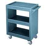 Cambro BC225401 3-Level Polymer Utility Cart w/ 350-lb Capacity, Raised Ledges