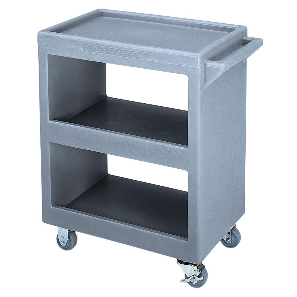 Cambro BC2254S191 3-Level Polymer Utility Cart w/ 350-lb Capacity, Raised Ledges