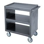 Cambro BC230191 3-Level Polymer Utility Cart w/ 500-lb Capacity, Raised Ledges