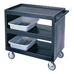 Cambro BC235110 3-Level Polymer Utility Cart w/ 500-lb Capacity, Raised Ledges