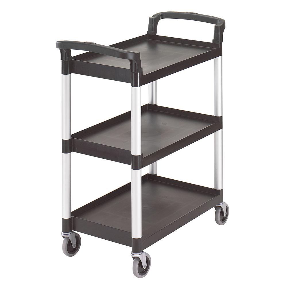 Cambro BC331KD110 3-Level Polymer Utility Cart w/ 300-lb Capacity, Raised Ledges