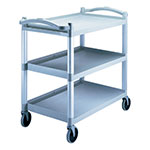 Cambro BC340KDP480 Single Shelf Panel Set - KD Utility Cart, Speckled Gray