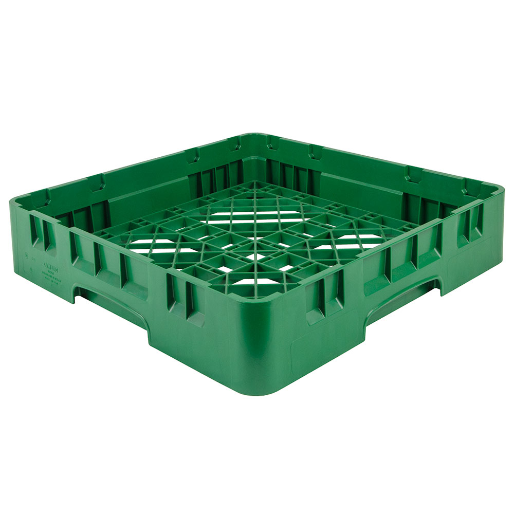 "Cambro BR258119 Camrack Base Rack - Full Size, 1-Compartment, 4""H, Sherwood Green"