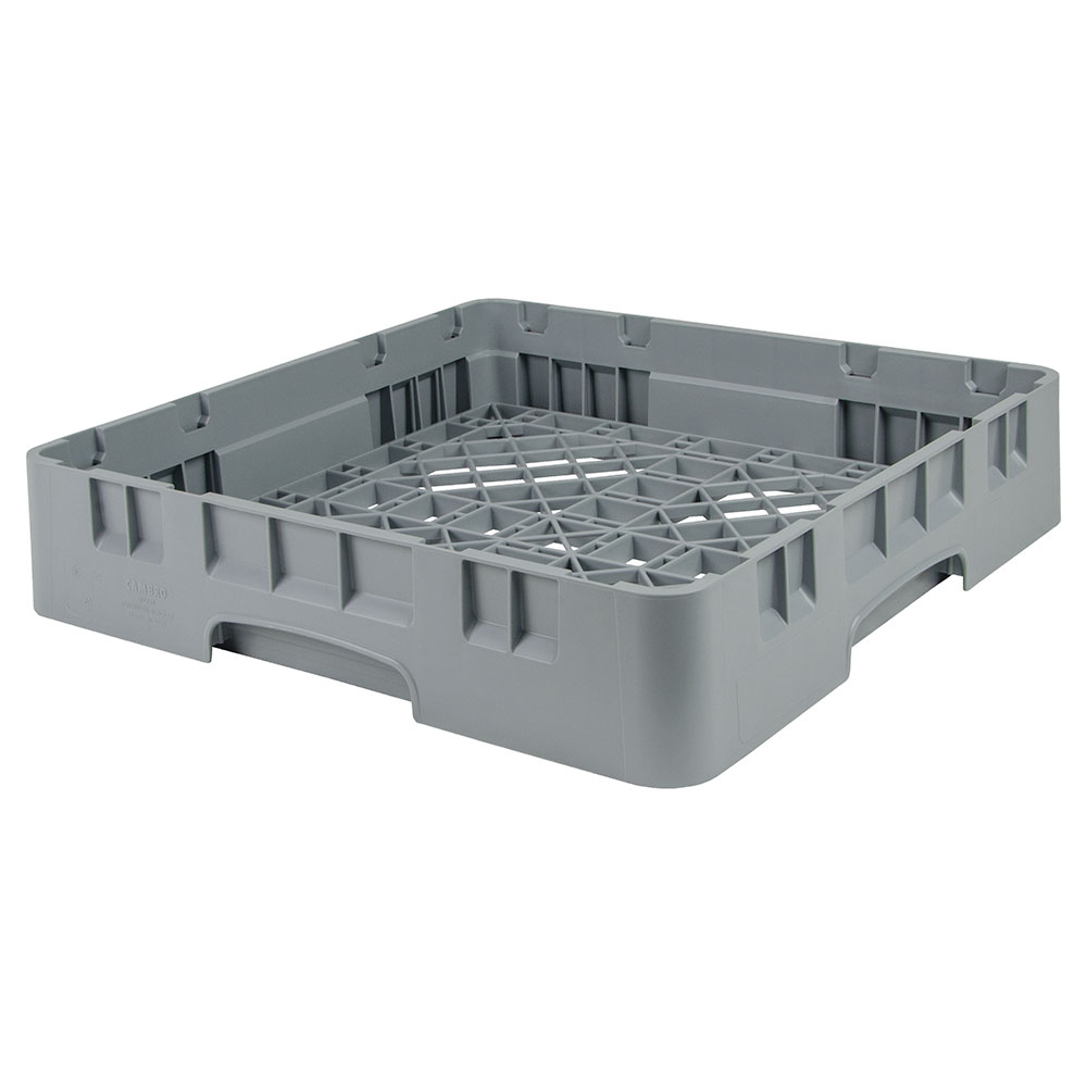 "Cambro BR258151 Camrack Base Rack - Full Size, 1-Compartment, 4""H, Soft Gray"