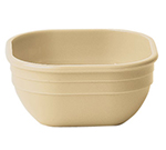 "Cambro 10CW148 4"" Square Camwear Bowl - 9.4-oz Capacity, White"